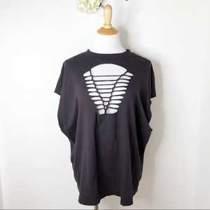 NWT UO Truly Madly Deeply Distressed Cutout Tee